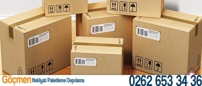 paketleme kutuları gebze